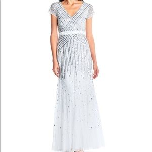 Adrianna Papell Dresses - Beaded V Neck Gown Size 6